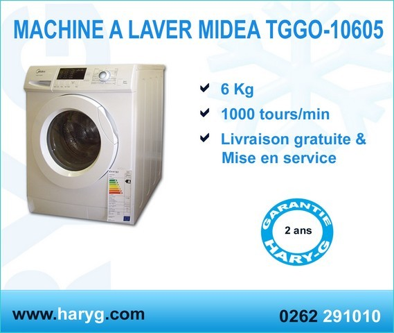 machine a laver midea tggo 10605 frontale 6 kg 1000 tours. Black Bedroom Furniture Sets. Home Design Ideas