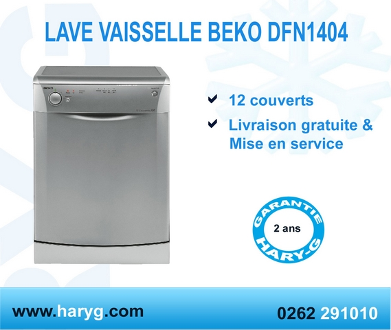lave vaisselle beko dfn1404 12 couverts classe a. Black Bedroom Furniture Sets. Home Design Ideas