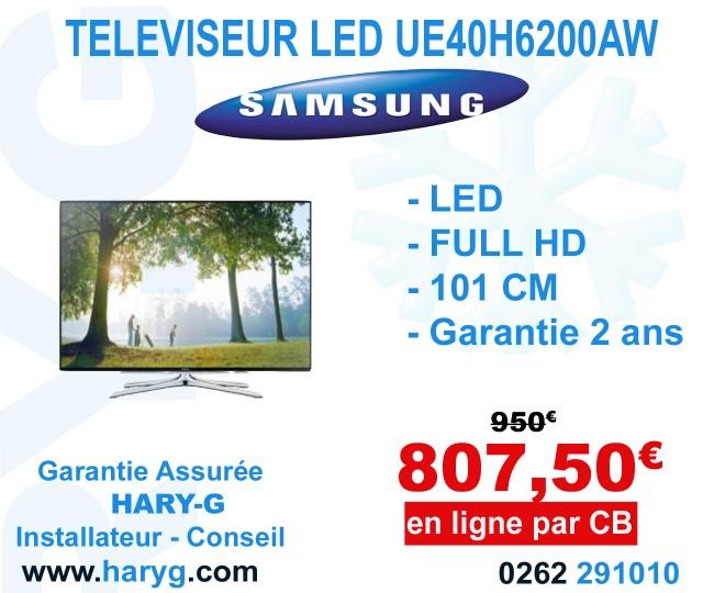 televiseur 3d led samsung ue40h6200 101 cm. Black Bedroom Furniture Sets. Home Design Ideas
