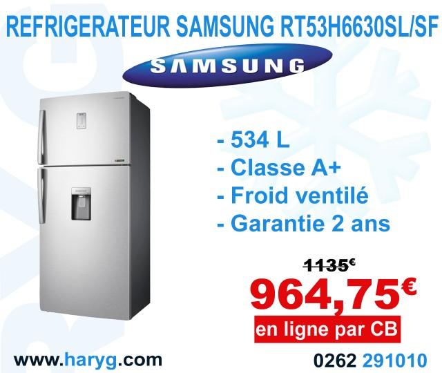 refrigerateur samsung rt53k6510sl ef 487l classe a. Black Bedroom Furniture Sets. Home Design Ideas