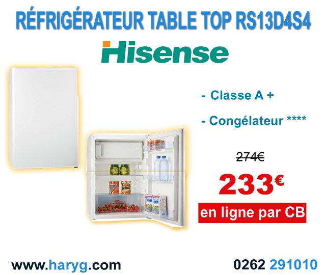 refrigerateur table top rs13d4s4. Black Bedroom Furniture Sets. Home Design Ideas