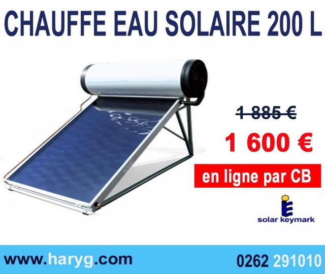 chauffe eau solaire 200 l non pos jusqu 39 a 4 personnes. Black Bedroom Furniture Sets. Home Design Ideas