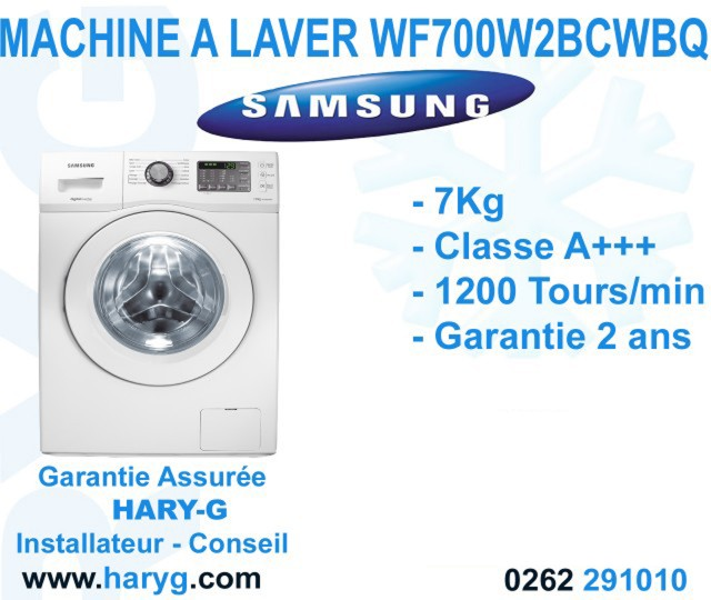 machine a laver samsung wf700w2bcwbq mf frontale 7 kg 1200 tours. Black Bedroom Furniture Sets. Home Design Ideas