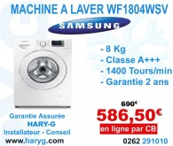 machine a laver samsung wf1804wpu frontale 8 kg 1400 tours. Black Bedroom Furniture Sets. Home Design Ideas